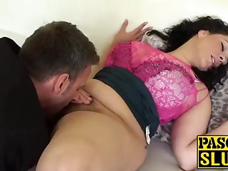 Crazy Anastasia Lux getting her cootchie tongued added to frigged