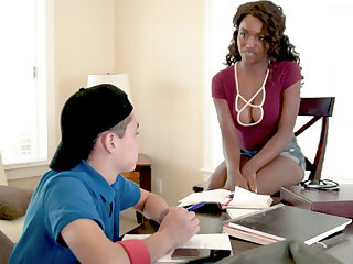 Black MILF Teacher Fucks Teen Brat