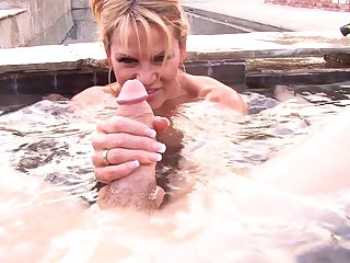 Fine sex session in a pool thither lovely MILF Kelly Madison