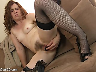 hotness mother I´d like approximately fuck lady plays with will not hear of hairy coochie - toys