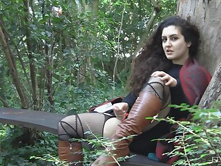 Outdoor should prefer to masturbation session with Lili and her toys