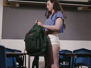 Bodacious lesbian cram Mona Wales is fucking seductive student
