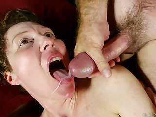 Dampness old spunker with nice jugs loves to have sex and facials