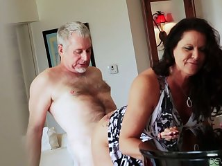 Bootyful and big tittied cougar Leylani Wood goes cast off on a hard unearth and gets doggy fucked