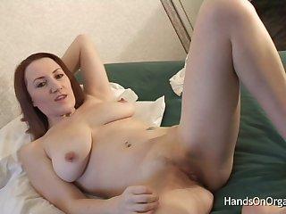Brit with Big Pussy Lips Masturbated By Cameraman