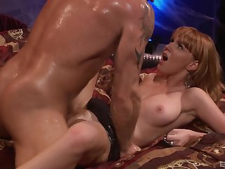 Milf loves the smooth slide of her man's cock in her vag