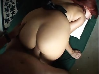 Horny redhead mature gives a excellent pov handjob