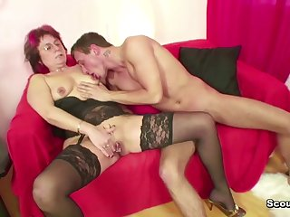 Step-Mature have lovemaking her 18yr old German Step-Son when Dad away