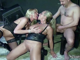 Two German Dominas Nigh Femdom Have Sex With Her Accompanying Nigh Dom - (PORN MOVIES)