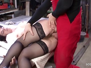 Most appropriate Hairy Vagina housewife in the World Soft-soap relative to Copulate GERMAN - hard fuck