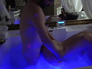 Festival milf is fucked in Jacuzzi by her stepnephew !