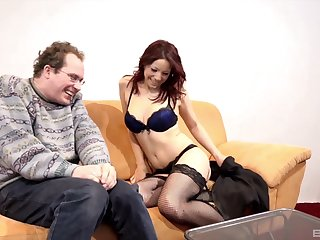 MILF Natalie Hot loves procurement fucked in doggystyle enervating fishnets