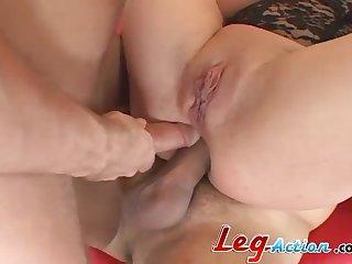 Missy Monrea distraite while her anal gets gangbanged hardcore