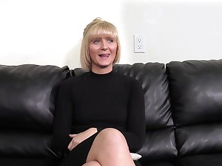 Mature snappish haired blonde Blake gets fucked out of reach of the casting couch