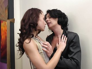 Giovana S. and Isadora are two saleable mature lesbian babes