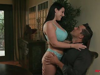 Powerful natural bosomy milf with huge ass Angela White gets will not hear of anus nailed
