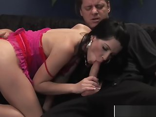 Attractive Stepmom Rebeca Gives Blowjob Cool Tender Sons
