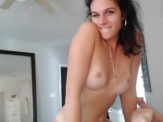 Shemale milf and say no to horny boy sucking 69 and facesitting