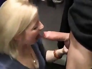 Hot Blonde Slut Blows In A Changing Court