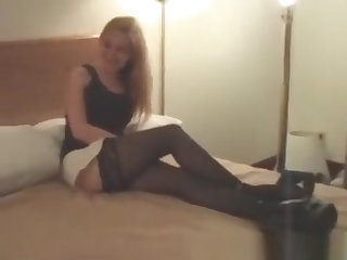 Cuckold Archive Tow-haired MILF with Black Bulls Sissy tapes her