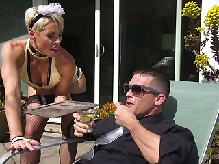 Strict popsy puts heavens strapon and fucks anal hole of pulling lady's man Lance Hart