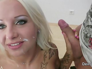 German Porn Star Got Laid In Her Asshole - self-stimulation