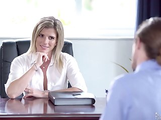 Red-letter sex in the office with smoking hot female big gun Cory Chase