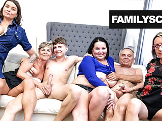 Grandpa and his friends in all directions a Sunday hot orgy