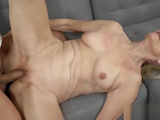 Granny Loves a Big Eternal Cock surrounding Her Pussy