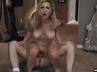 Insane mom porn until the bitch reaches the come to a head mount