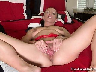 MILF Rubs Huge Clit and Big Broken up Intense Clenching Orgasm