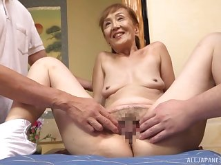 A astonishing threesome Japanese primate a sexy granny