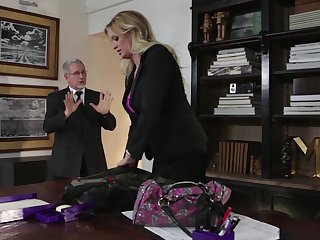 Buxom golden milf Stormy Daniels is cheating on say no to husband with his own son