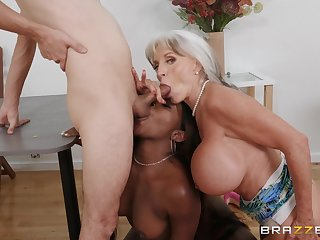 Mr Big adult loves helping this ebony babe with the big dick