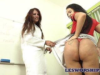 MILF teacher seems to love her student's massive Brazilian plunder