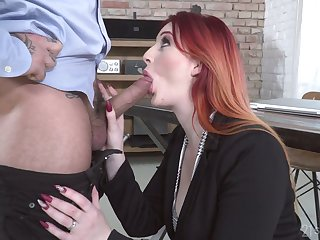 Kinky redhead Zara DuRose ends up BJ with a tremendous horseshit ride