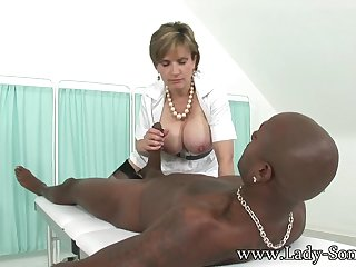 Stretching Her Not unlike Her Husband Never Could - LadySonia
