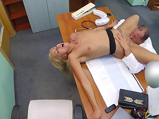 Hot tow-haired licked added to fucked by older adulterate with huge locate