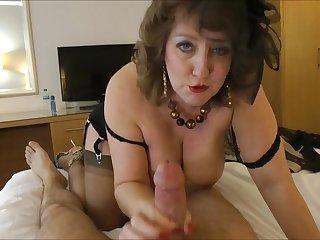 Hot retro-style MILF hot porn film over
