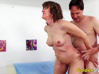 Hot n horny old women take indestructible dicks inside their mature pussies together with get fucked good