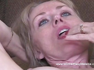 Awesome creampie for hot unpaid milf named Amoral Sexy Melanie.