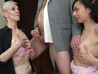 Younger couple enjoys having lovemaking alongside old people - Lada Sandrova