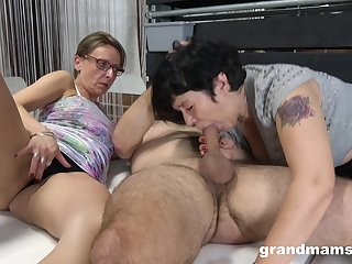 Matures share cock thither ways they always dreamed when they were younger
