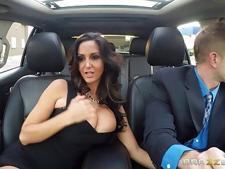 Full-grown wife Ava Addams close by stockings enjoys riding a rock hard dick