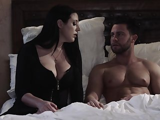 Fabulous big breasted wifey Angela White rubs clit in the long run b for a long time fucking missionary