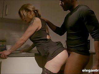 Pale nympho with nice exasperation Klarissa is correctly analfucked by black stud