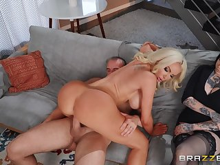 Cougar mom sure likes proving her point on a young dong