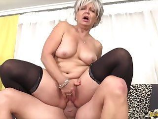 Old women enjoy taking unearth inside their meaty pussy and getting fucked