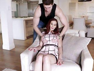 Sexy nextdoor milf Lilian Stone allows round leman her big boobies together with wet pussy