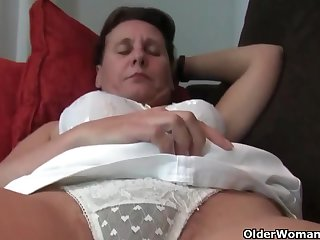Mature, Euro women, Emenuelle, Inge and Sabine are each masturbating in front of the camera